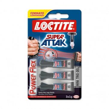 Super Attak Mini Trio 3x1g Loctite - 2030792 (conf.3x1g)