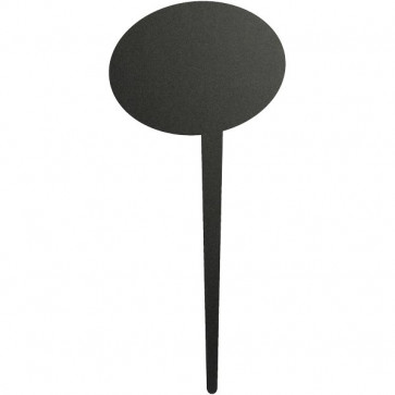 Targhe con marcatore Securit - 24,7x15 cm - ovale - nero - TAG-BUBBLE-5 (conf.5)