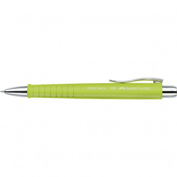 Penna a sfera Polyball Faber Castell - punta XB - tratto 1,2 mm - lime - 241164