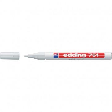 Marcatore permanente a vernice Edding bianco tonda 1-2 mm 751 049