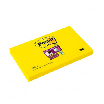 Post-it® Super Sticky 76x127 mm giallo canary neutra 90 655-S