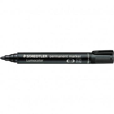 Marcatore Lumocolor Permanent Staedtler nero tonda 2 mm 352-9