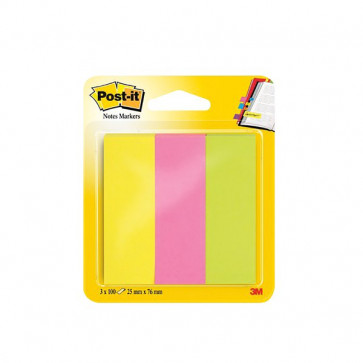 Post-it® Notes Markers 25x76 mm giallo, rosa, verde 671-3 (conf.3)