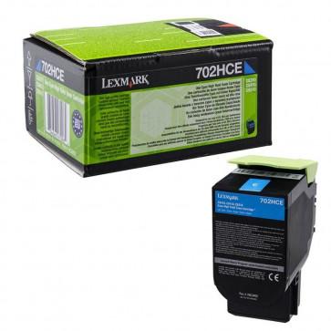 Originale Lexmark 70C2HCE Toner altissima resa Corporate Cartridges 702HCE  ciano
