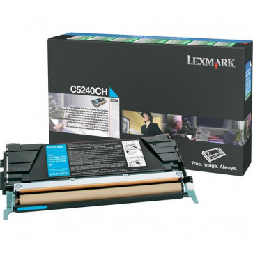Originale Lexmark C5240CH Toner alta capacità return program ciano