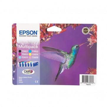 Originale Epson C13T08074011 Conf. 6 cartucce inkjet blister RS T080 6 colori