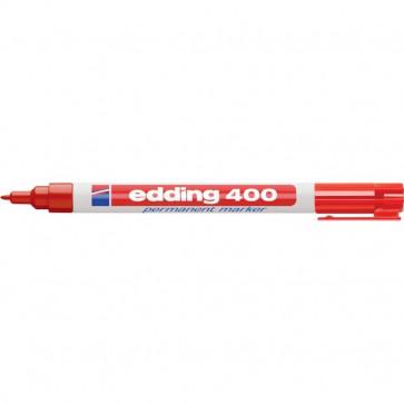 Marcatore permanente 400 Edding rosso tonda 1 mm 400 002