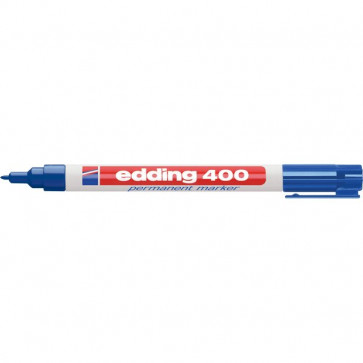 Marcatore permanente 400 Edding blu tonda 1 mm 400 003