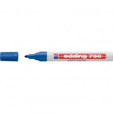 Marcatore permanente a vernice Edding blu tonda 2-4 mm 750 003