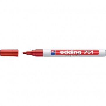 Marcatore permanente a vernice Edding rosso tonda 1-2 mm 751 002