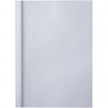 Cartelline termiche GBC liscia 8 mm 60 fogli trasp./bianco IB370052 (conf.100)