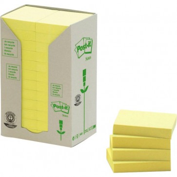 Post-it® Note in carta riciclata giallo 38x51 mm 653-1T (conf.24)