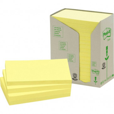Post-it® Note in carta riciclata giallo 127x76 mm 655-1T (conf.16)