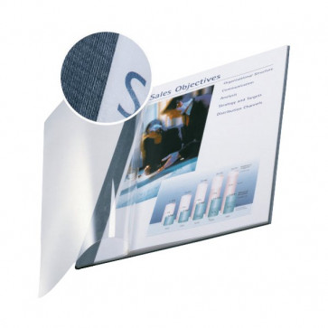 Copertine flessibili con fronte trasparente Esselte 71-105 fogli blu marina 74140035 (conf.10)