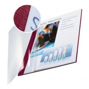 Copertine flessibili con fronte trasparente Esselte 71-105 ff -rosso scarlatto- 74140028 (conf.10)