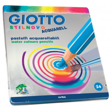 Pastello Stilnovo Acquarell Giotto 3,3 mm da 3 anni in poi 256300 (conf.24)