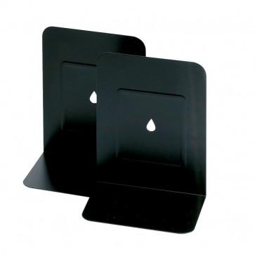 Reggilibri in metallo Lebez nero 088-N (conf.2)