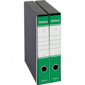 Registratori Oxford Esselte commerciale dorso 5 F.to utile 23x30cm verde 390782180 (conf.8)