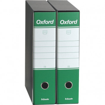 Registratori Oxford Esselte protocollo dorso 8 F.to utile 23x33cm verde 390785180 (conf.6)