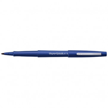 Penna con punta sintetica Flair Nylon Papermate blu 1 mm S0191013 (conf.12)