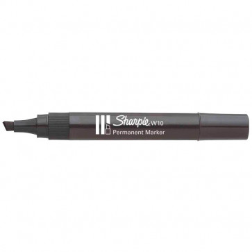 Marcatore permanente Sharpie W10 Papermate a scalpello nero 1,2-5 mm S0192654 (conf.12)