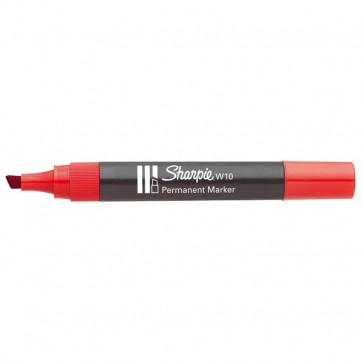 Marcatore permanente Sharpie W10 Papermate a scalpello rosso 1,2-5 mm S0192675 (conf.12)