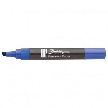 Marcatore permanente Sharpie W10 Papermate a scalpello blu 1,2-5 mm S0192695 (conf.12)