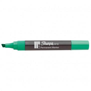 Marcatore permanente Sharpie W10 Papermate a scalpello verde 1,2-5 mm S0192715 (conf.12)