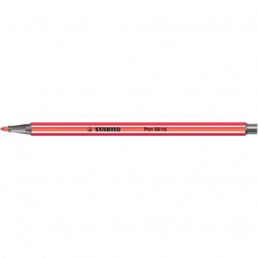 Pennarelli Stabilo Pen 68 in Scatoletta di cartone rosso scuro 1 mm da 7 anni 68/50
