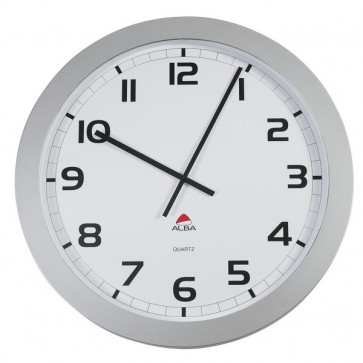 Orologio da parete Big-Big Clock Alba grigio metallizzato Ø 60 cm HORGIANT