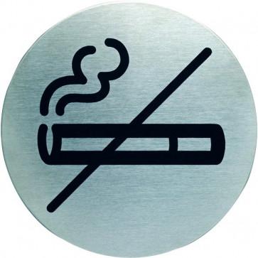 Pittogramma in acciaio Durable rotondo area non fumatori Ø 83 mm 4911-23