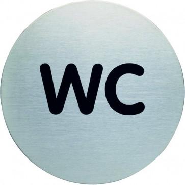 Pittogramma in acciaio Durable rotondo wc Ø 83 mm 4907-23