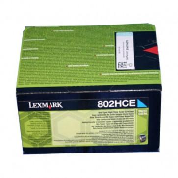 Originale Lexmark 80C2HCE Toner altissima resa Corporate Cartridges 802HCE  ciano