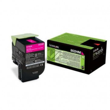Originale Lexmark 80C2HME Toner alta resa Corporate Cartridges 802HME  magenta