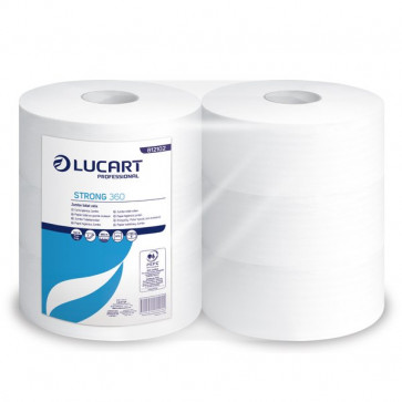 Carta igienica pura cellulosa Maxi jumbo Lucart 2 veli 360 m 812102 (conf.6)