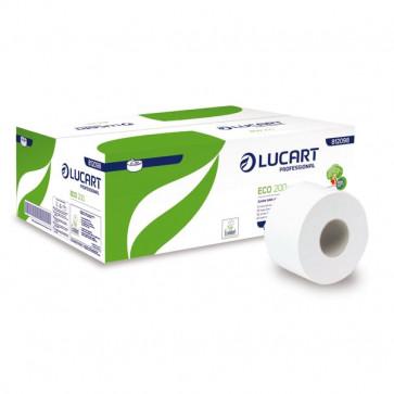 Carta igienica ecologica Mini Jumbo Lucart 2 veli 527 strappi 812098 (conf.12)