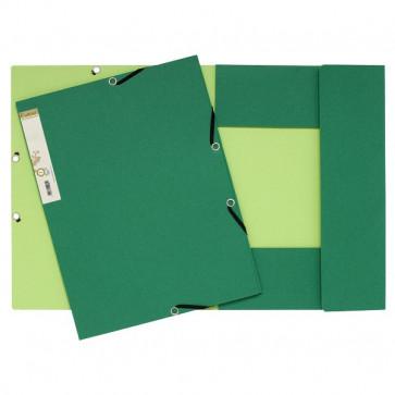 Cartelle 3 lembi FOREVER® Exacompta esterno verde scuro/ interno verde chiaro 56983E