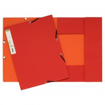Cartelle 3 lembi FOREVER® Exacompta esterno rosso/interno arancione 56985E