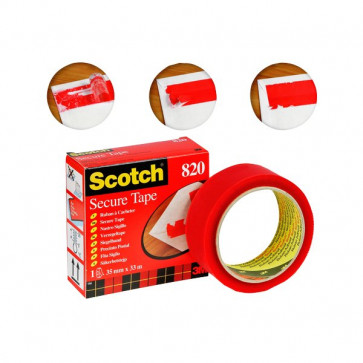 Nastro Scotch® Secure Tape 35 mm x 33 m rosso 51379