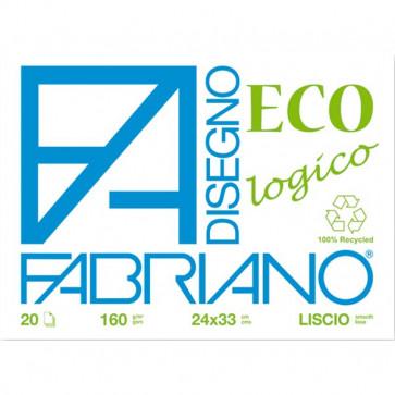 Fabriano blocco eco Ruvido 24x33 cm 160 g/mq 20 fogli 55502433