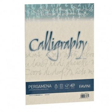 Calligraphy Pergamena Liscio Favini sabbia fogli A4 190 g A69U084 (conf.50)