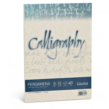 Calligraphy Pergamena Liscio Favini naturale fogli A4 90 g A69Q204 (conf.50)