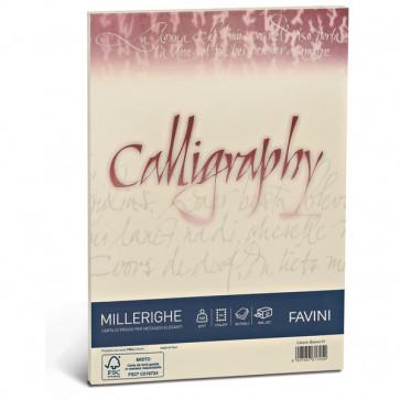 Calligraphy Millerighe Rigato Favini avorio fogli A4 100 g A69Q224 (conf.50)