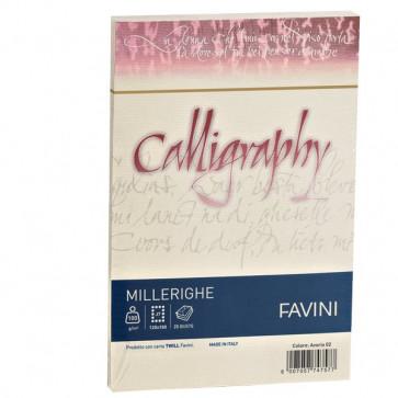Calligraphy Millerighe Rigato Favini avorio buste 12x18 cm 100 g A57Q427 (conf.25)