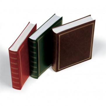 Album per foto Lebez copertina marrone-blu-verde-rosso similpelle 50 fogli -30x33cm-0378-ASS