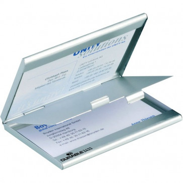 Portabiglietti da visita tascabile Duo Durable alluminio 9x5,5 cm 2433-23