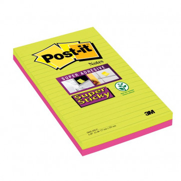 "Post-it® Super Sticky Ultracolor ""to do list"" 125x200 mm lime e rosa neon 5845-4SSUC (conf.4)"