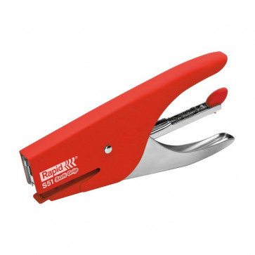 Cucitrice a pinza Supreme S51 Soft Grip Rapid rosso 10538747