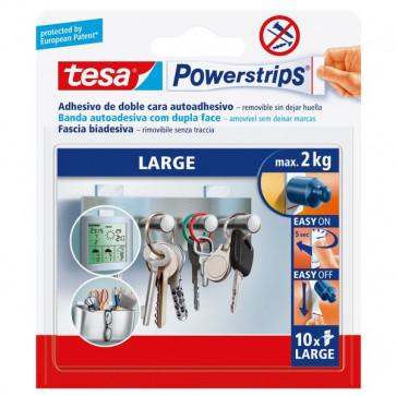 Strisce biadesivo Powerstrips removibili Tesa tasselli biadesivi large bianco 58060-00000-01 (CONF10)