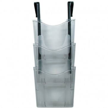 Vaschetta portadocumenti da parete 3 livelli Deflecto A4 verticale 26,3x11x33 cm CP081YTCRY